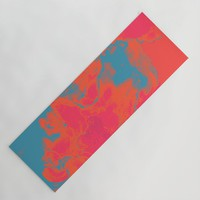 Pixelated Yoga Mat by duckyb