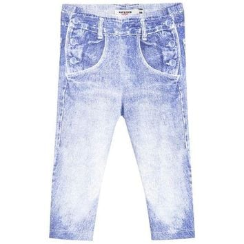 MDIGMS9 Junior Gaultier Baby Denim Print Leggings
