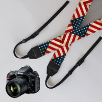 US Flag Camera Strap,unique dslr strap,SLR Digital Camera strap,personalized camera strap,nikon camera strap,canon camera strap