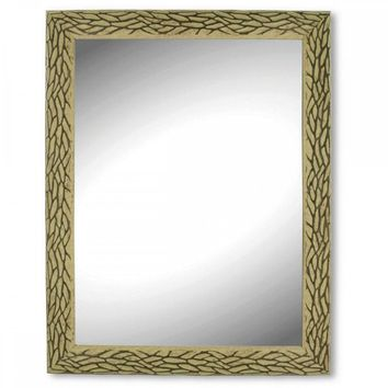 Ornate Oak Look Wall Mirror