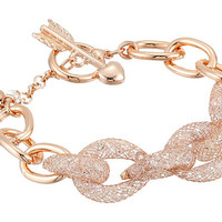 Betsey Johnson Sparkle Links Toggle Bracelet Crystal/Rose Plate - Zappos.com Free Shipping BOTH Ways