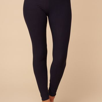 Getting Stuff Done High Waisted Leggings (Navy)