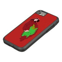 Red Painted Parrot Case-Mate Tough Extreme iPhone 8/7 Case
