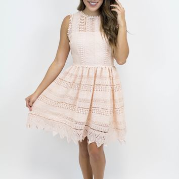 Peach Blossom Lace Dress - BB Dakota