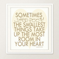 Choose your colors // Winnie the Pooh Quote Wall Art 8x10 Print//