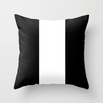 #14 Lines Throw Pillow by Minimalist Forms