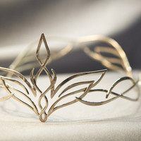 Bridal headpiece tiara elvish wedding diadem Veronica
