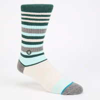 Stance Klondike Mens Athletic Lite Crew Socks Blue Combo One Size For Men 24711224901