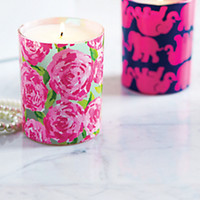 Scented Glass Candle - Lilly Pulitzer