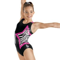 Metallic Zebra Star Gymnastics Leotard - Balera