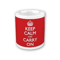 Keep Calm And Carry On Red Pattern Coffee Mug