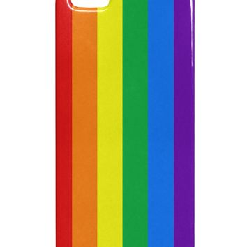 Rainbow Vertical Gay Pride Flag iphone 5 & 5S Plastic Case All Over Print by TooLoud
