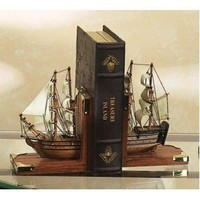 Sailing Ships Nautical Book Ends