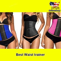 #1 Underbust Waist Trainer Cincher Corset Girdle Workout Tummy Belt Shaper Top