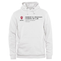 Indiana Hoosiers McKinney School of Law Pullover Hoodie - White