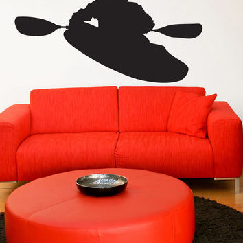 Vinyl Wall Decal Sticker Kayaking #1543