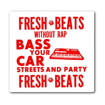 Fresh Beats Hip Hop Sticker