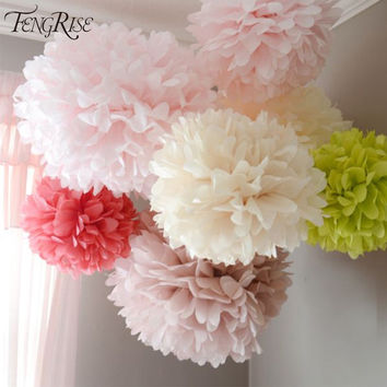 Wedding Decoration Events 5 pcs Tissue Paper Pompom Ball Party Supplie Baby Shower Birthday Garland