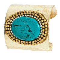Tropics & Turquoise Cuff in Gold