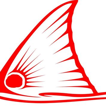 Tailing Redfish Tail Only Decal in Red by Skiff Life