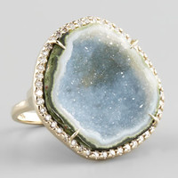 18k White Gold Geode & Diamond Ring