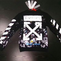 Off-White fireworks print Round Neck Sweater Hoodie fleeces H-A-GHSY-1