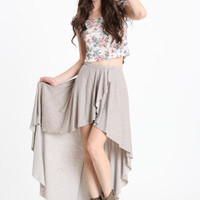 Cameron Ruffle Skirt by Brandy Melville