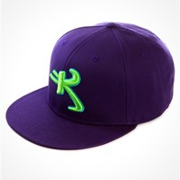 Kikwear Purple Astro K Snap Back hat