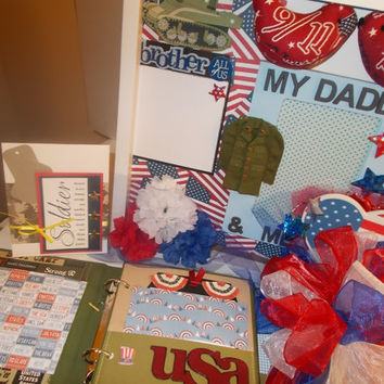 WE REMEMBER 9/11/2001 Picture Frame, Scrapbook Album And FREE Patriotic Pin. July 4