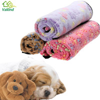 3 Colors Warm Dog Bed Mat Cover Dogs Cats Pet Blanket Fleece Towel Paw Handcrafted Print Dog House Puppy Bed Winter Pet Supplies
