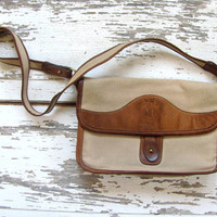 Vintage Ghurka Bag / The Spectator canvas and leather purse by Marley Hodgson / #37