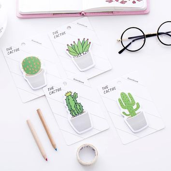 8 pcs/Lot Cactus guestbook Green plant memo pad Sticky notes Succulent sticker diary Stationery Office School supplies 6669