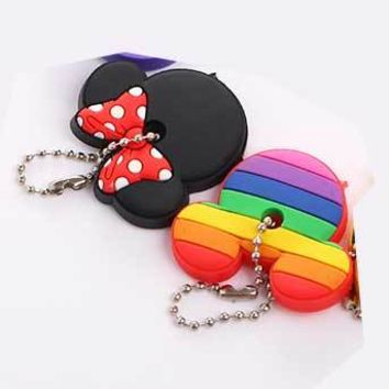 2 PCS set Cartoon Silicone Protective Key Case Cover for Key Control Dust Cover Holder Organizer bear EMOJI Home  Supplies