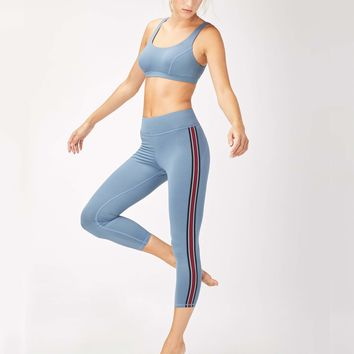 Michi Ash Crop Legging - Storm Blue