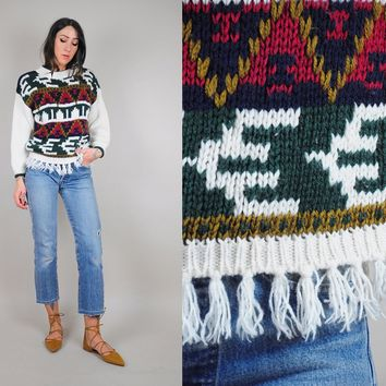 Fringed Persian Rug Sweater