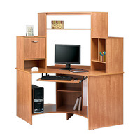 Realspace Magellan Collection Corner Workstation 63 12 H x 66 W x 31 12 D Honey Maple by Office Depot & OfficeMax