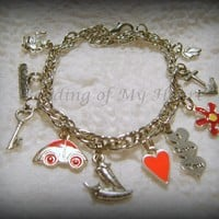 """Fifty Shades of Grey"" Inspired Bracelets and Bookmarks - $20.00 - Handmade Crafts by Beading of My Heart"