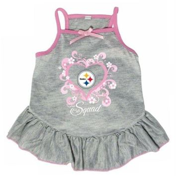 Chenier Pittsburgh Steelers 'Too Cute Squad' Pet Dress