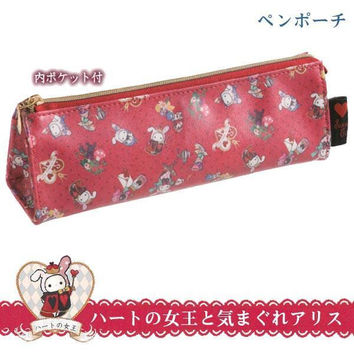 San-X Sentimental Circus Alice in Wonderland Theme Pen Pouch (Queen of Hearts)