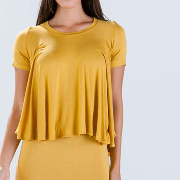 Go With The Flowy Wide Cut Top