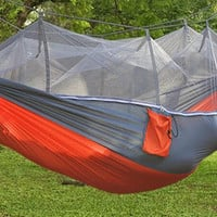 Strength Camping Hammock Hanging Bed With Mosquito Net