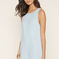 Linen-Blend Shift Dress