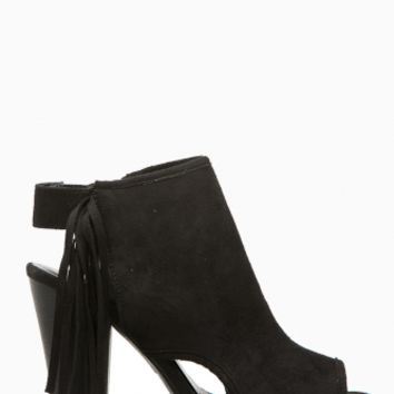 Black Faux Suede Fringe Cut Out Booties @ Cicihot. Booties spell style, so if you want to show what you're made of, pick up a pair. Have fun experimenting with all we have to offer!