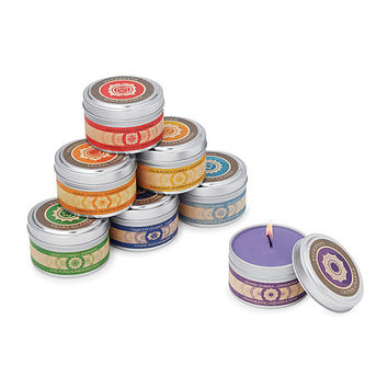 Chakra Candles - Set of 7 | seven chakras