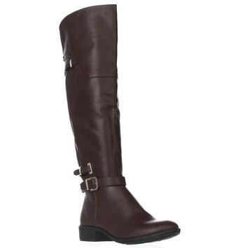 SC35 Adaline Knee High Riding Boots, Cognac, 6.5 US