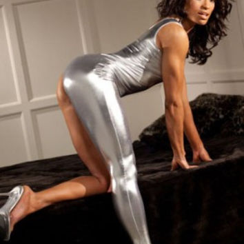 Silver Sexy Body Suit