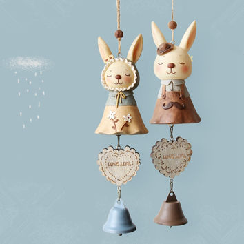 Rabbit Resin Wind Bell Innovative Gifts Home Decor [6281777926]
