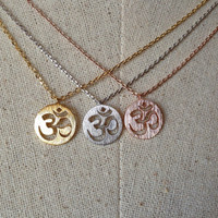 OM Necklace, Ohm Necklace, Dainty Necklace