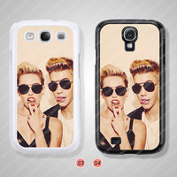 Miley cyrus Justin bieber, Samsung Galaxy S3 case, Samsung Galaxy S4 case, Cover Skin, Phone cases, Phone Covers - S0844