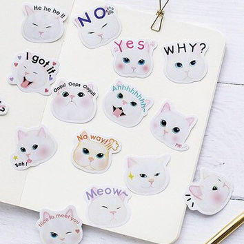 Cat Stickers, Journal Stickers, Cute Stickers, Stickers Set, Stickers Pack, Laptop Stickers, Stickers, Phone Stickers